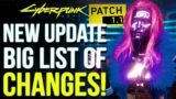 """Cyberpunk 2077 – NEW 16 GB Update 1.1 OUT NOW! Improvements for """"Old Gen"""" Consoles & More!"""
